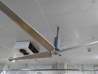Detalle de ventilador industrial de techo