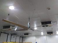 Equipo instalado: ventilador industrial de techo