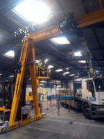 Proyecto MELEGHY: instalación semipórtico grúa monorail
