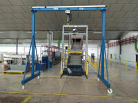 SPBerner project Light steel gantry crane with BigBag attachment without load