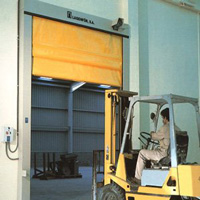 Folding Rapid PVC Door Vectorflex