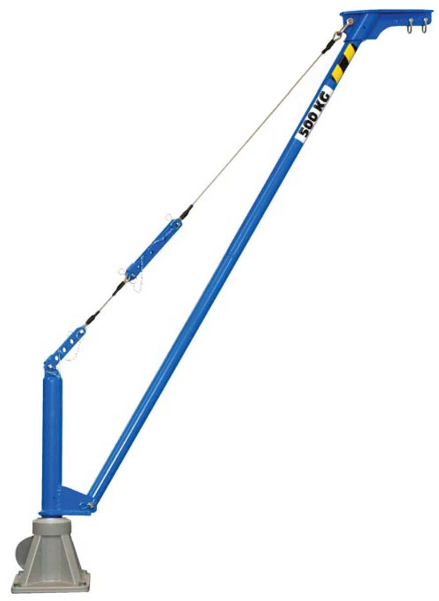Movable aluminium jib crane COMALU 500