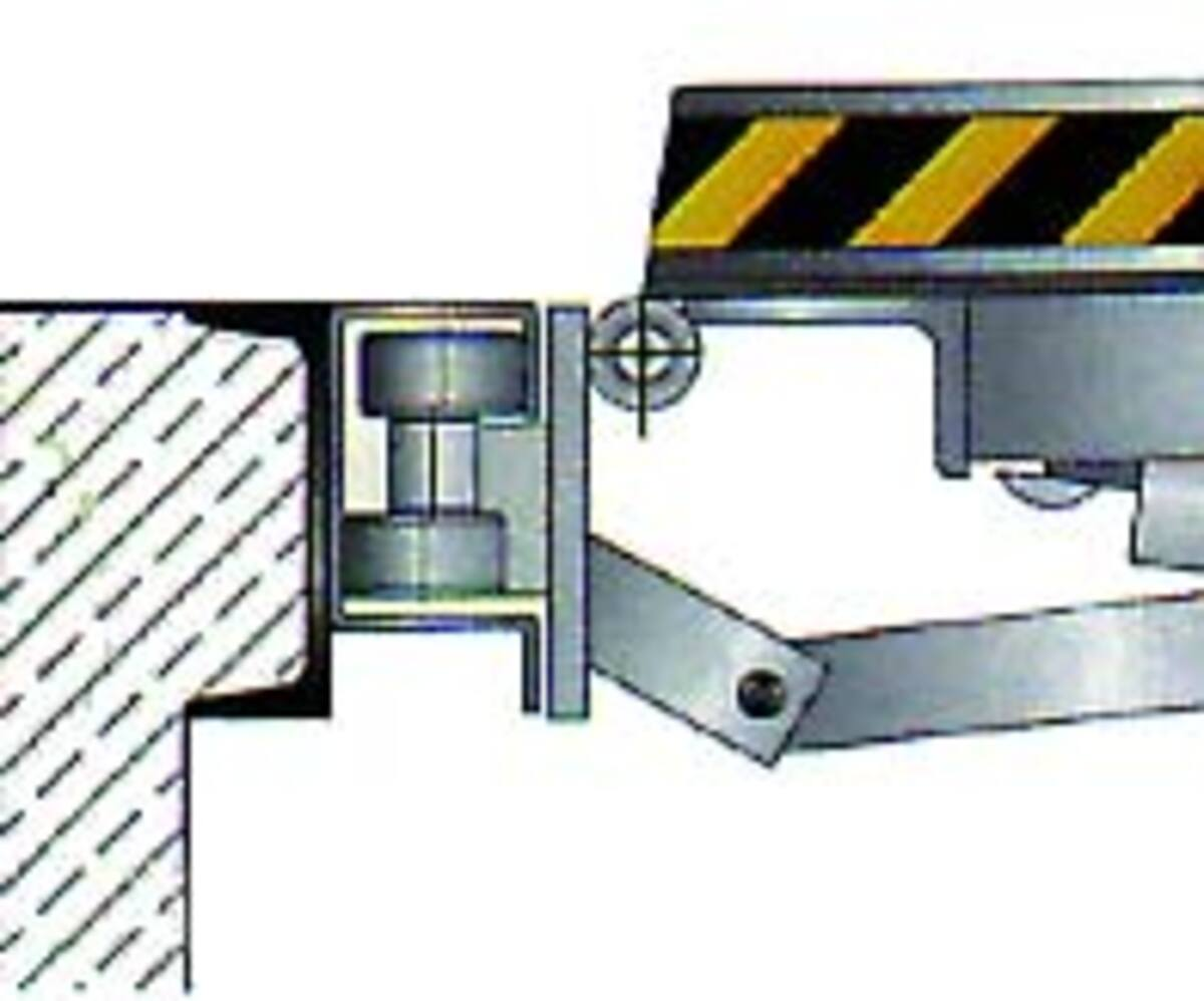 Laterally mobile ramp scheme