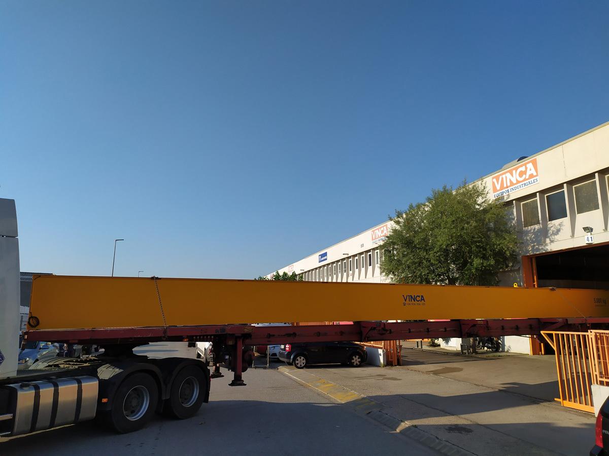 Puente grúa monorail 8t para Germans Homs