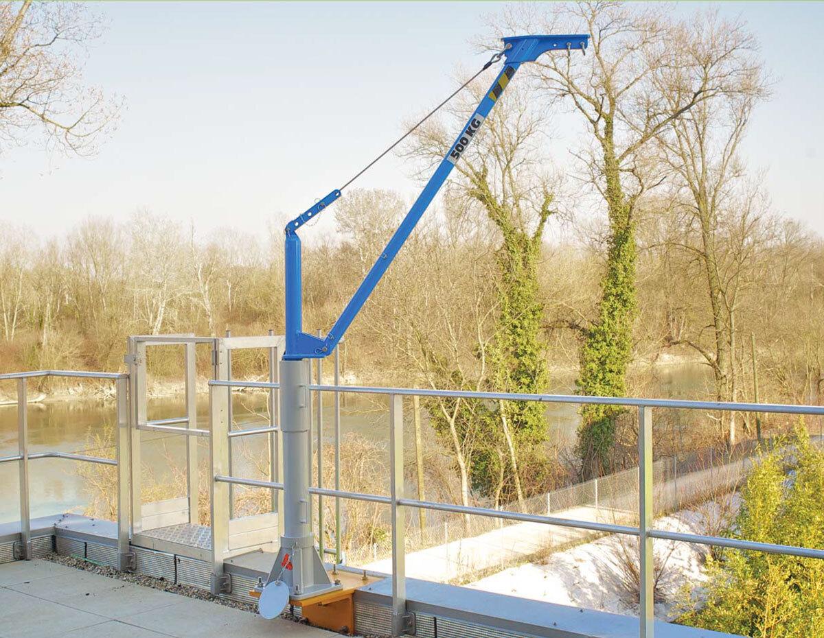 Movable aluminium jib crane COMALU