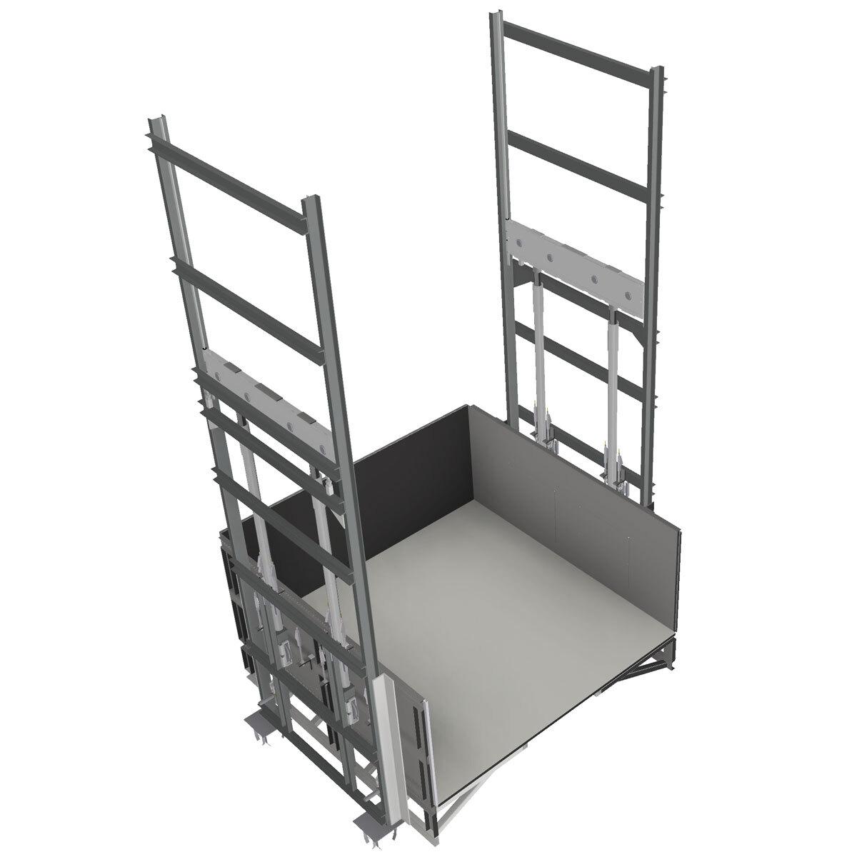Plataforma PLT doble bastidor