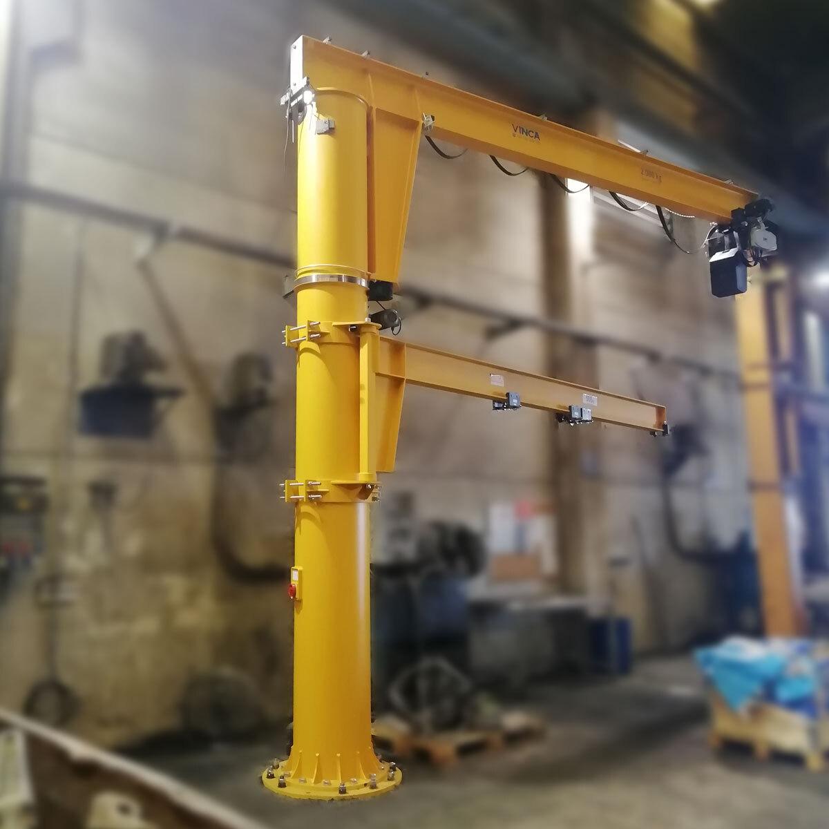 Pluma de carga motorizada para Metalogenia