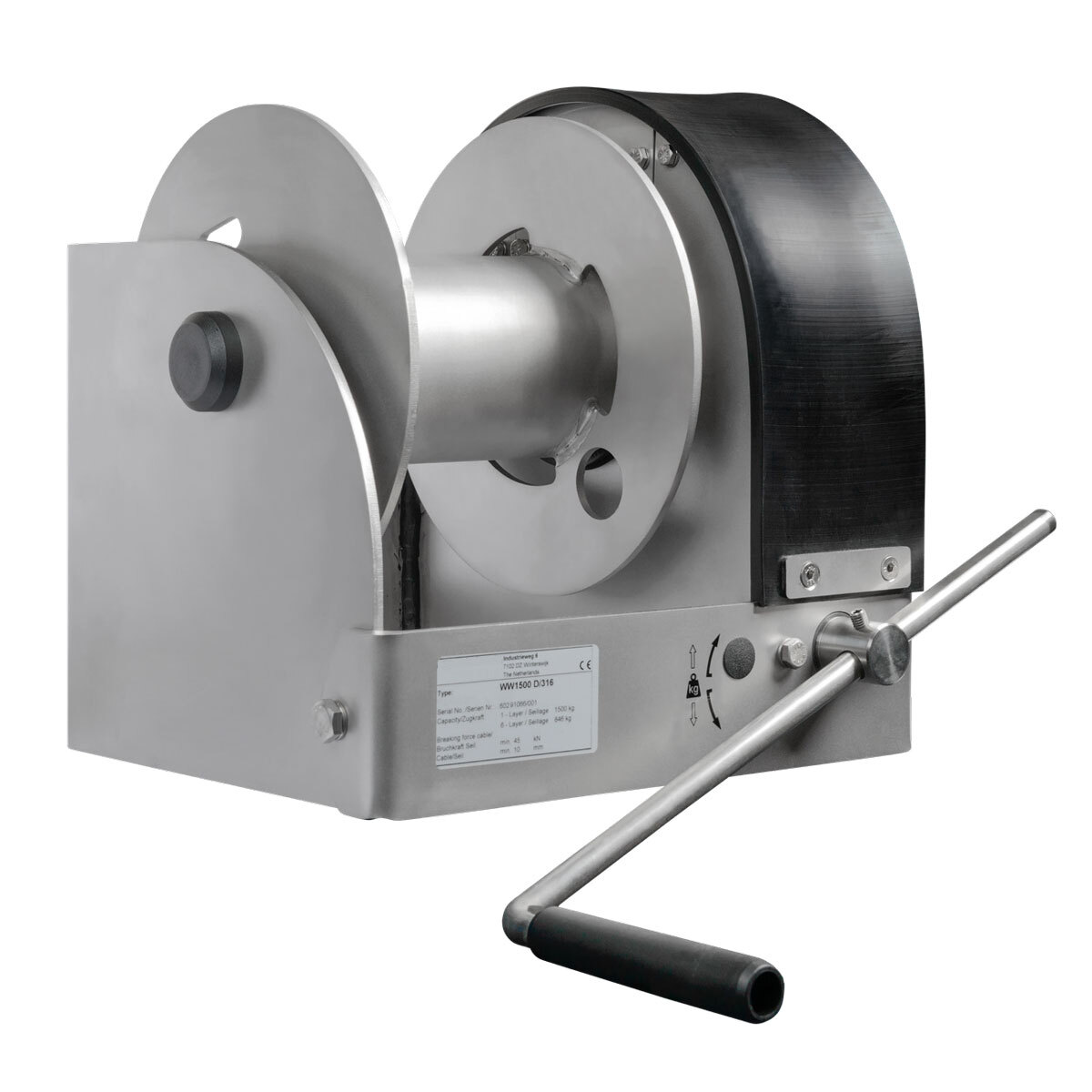 Stainless steel 316 worm gear winch WW500 3000